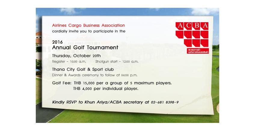 ACBA Golf Tournament 2016